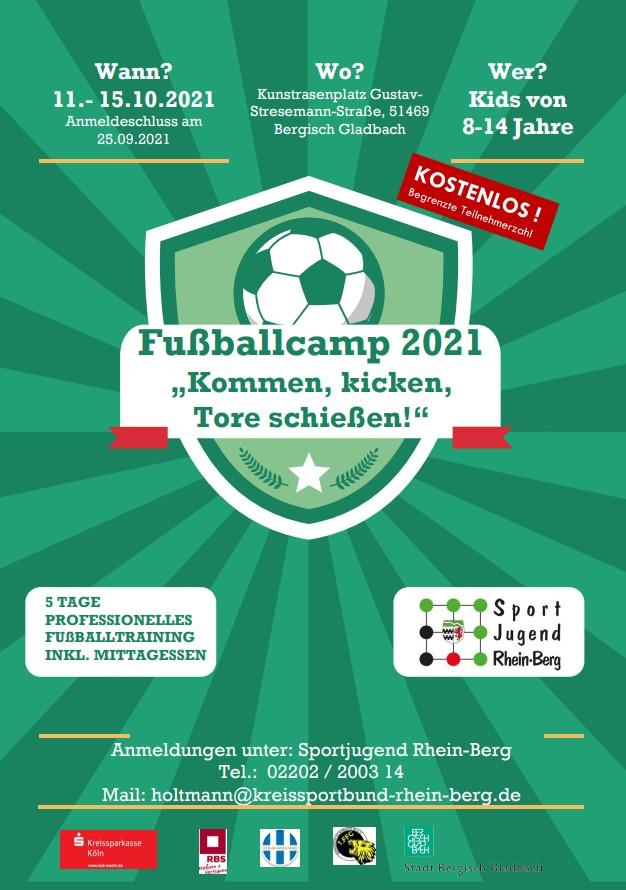 Flyer Fußballcamp Herbst 2021
